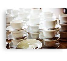 Coffee cups in a bar Canvas Print