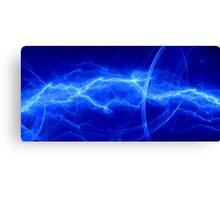 Fantasy blue lightning Canvas Print