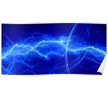 Fantasy blue lightning Poster