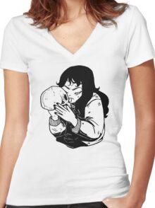 SKULL X GIRL Women's Fitted V-Neck T-Shirt