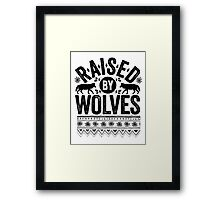 Raised By Wolves {Black + White} Framed Print