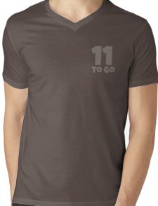 Eleven To Go - White Mens V-Neck T-Shirt