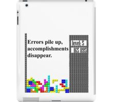 tetris philosophy iPad Case/Skin
