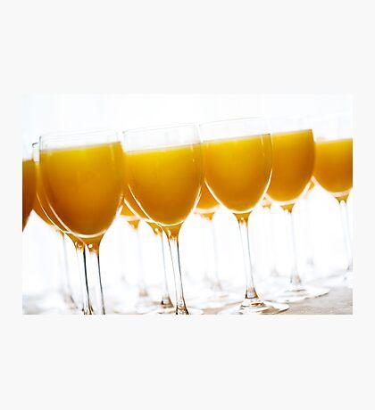 Fresh orange juice in glasses Photographic Print
