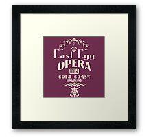 East Egg Opera House Framed Print