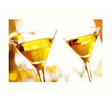Celebration. Two champagne glasses. Art Print