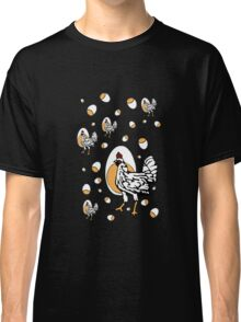 Retro Chickens And Eggs Classic T-Shirt