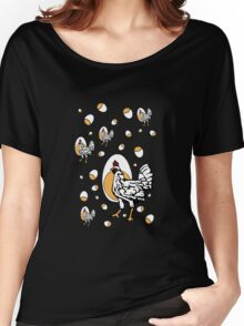 Retro Chickens And Eggs Women's Relaxed Fit T-Shirt