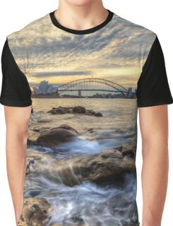 Sydney Opera House and Harbour Bridge Graphic T-Shirt
