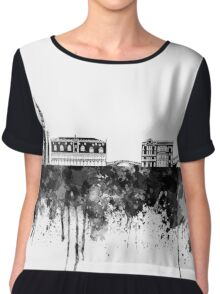 Venice skyline in black watercolor Chiffon Top