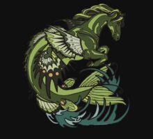selkie, kelpie. hippocampus, sea horse by resonanteye