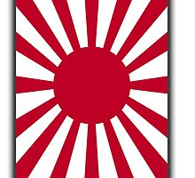 War flag of the Imperial Japanese Army (Portrait) by TOM HILL - Designer