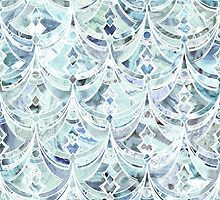 Ice and Diamonds Art Deco Pattern by micklyn