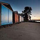 Dixons Beach Boatsheds #2 by Chris Cobern