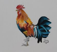 Banty Rooster by ArtbyJaneHazell