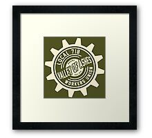 Valley of Ashes Local 718 Framed Print