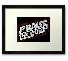 Dark Wars : PRAISE THE SUNS ! Framed Print