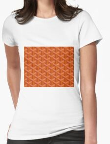 Goyard case orange Womens Fitted T-Shirt