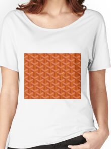 Goyard case orange Women's Relaxed Fit T-Shirt