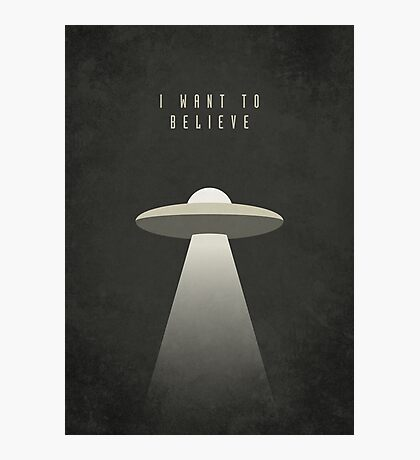 X Files - I Want To Believe (Textured) Photographic Print