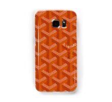 Goyard case orange Samsung Galaxy Case/Skin