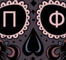 Pi Beta Phi Skull Sticker