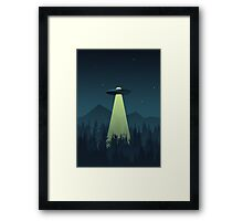 Forest UFO (Classic) Framed Print