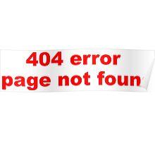 404 Error Poster