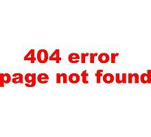 404 Error Photographic Print