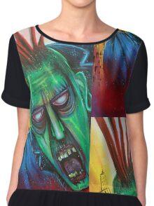 Punk Rock Zombie Chiffon Top