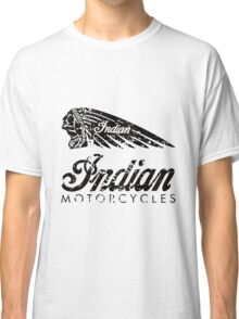 Indian Motorcycles Distressed Logo Classic T-Shirt