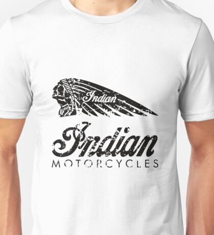 Indian Motorcycles Distressed Logo Unisex T-Shirt