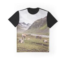 Tyrolean Haflinger horses I Graphic T-Shirt