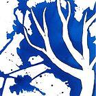 Blue Tree Ink Drawing by RachelSheree