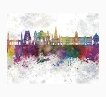Chennai skyline in watercolor background Kids Tee