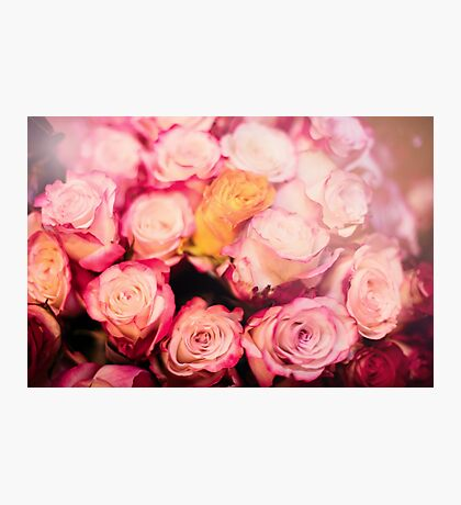 Beautiful bouquet of pink roses Photographic Print