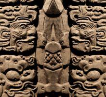 Mayan Sculpture Sticker