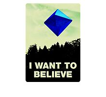 I Want to Believe in Ramiel [White] Photographic Print