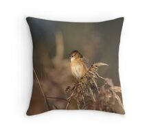 The Golden-headed cisticola Throw Pillow