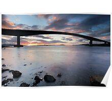 Isle of Skye Bridge Sunset Poster
