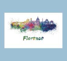 Florence V2 skyline in watercolor Kids Tee