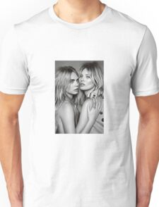 Cara Delevingne + Kate Moss Black and white Unisex T-Shirt
