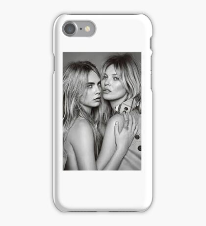 Cara Delevingne + Kate Moss Black and white iPhone Case/Skin