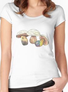 Boletus Luridus Toadstools Women's Fitted Scoop T-Shirt