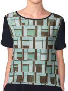 Business Building Windows Abstract Detail Chiffon Top