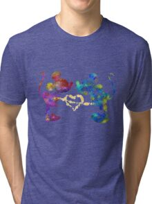 mickey and minnie watercolor  Tri-blend T-Shirt