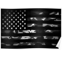 American camouflage Poster