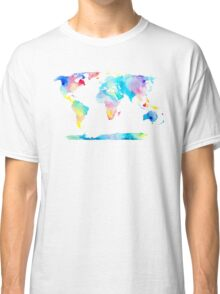 The Places We'll Go - Watercolor World Map Classic T-Shirt