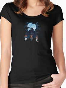 Midnight Blues X 3 Wise Monkeys Women's Fitted Scoop T-Shirt