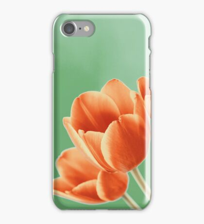Red And Orange Tulips Flowers Bouquet iPhone Case/Skin